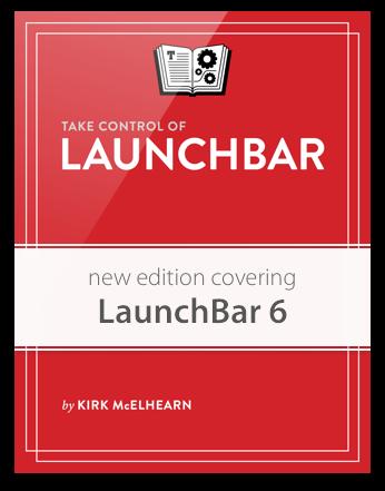 Take Control of LaunchBar eBook Cover